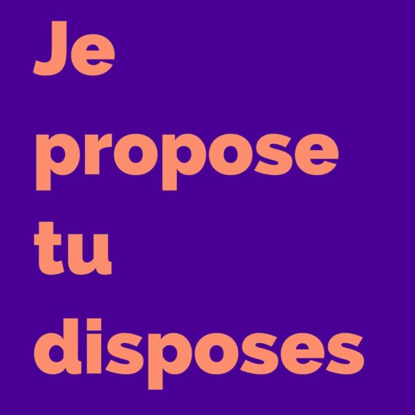 Proposeur, proposeuse, disposeur, disposeuse…